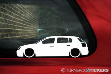 2x LOW Vauxhall / Opel Signum silhouette stickers, Decals